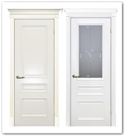Полотна дверные глохое и стекло